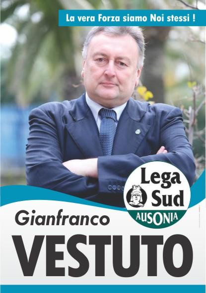 Gianfranco Vestuto segretario federale della Lega Sud Ausonia manifesto